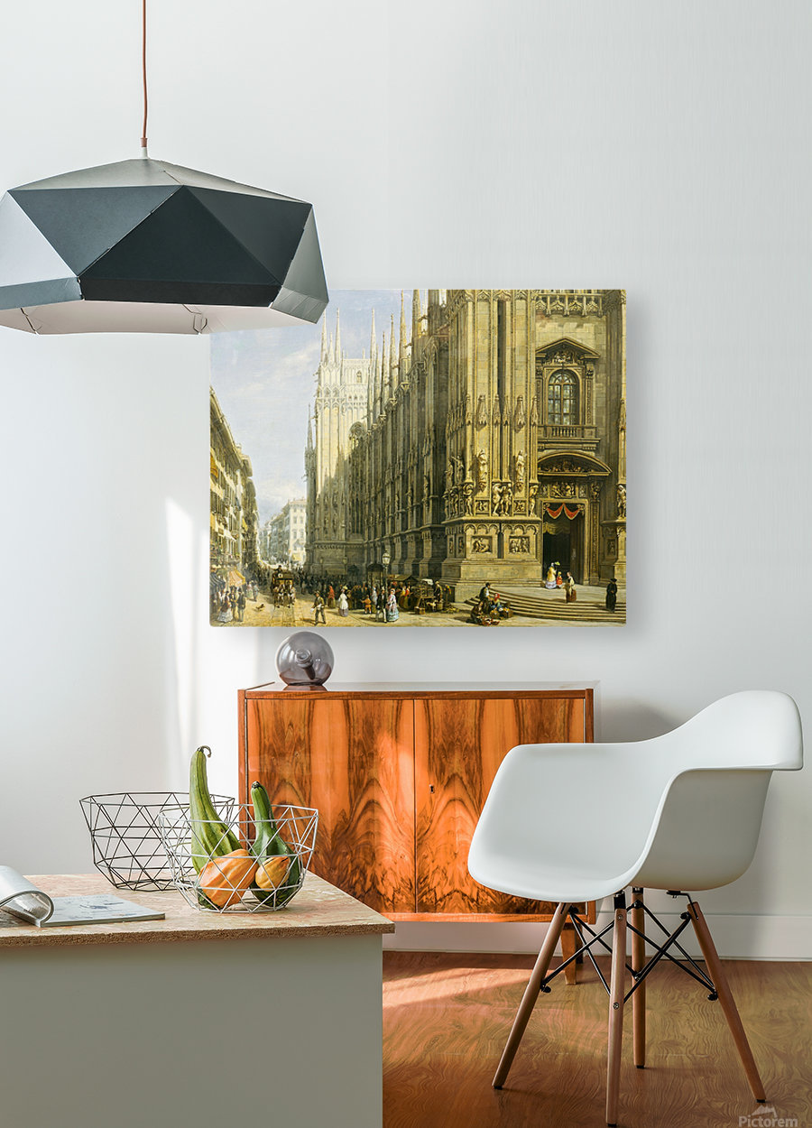Il Duomo di Milano  HD Metal print with Floating Frame on Back