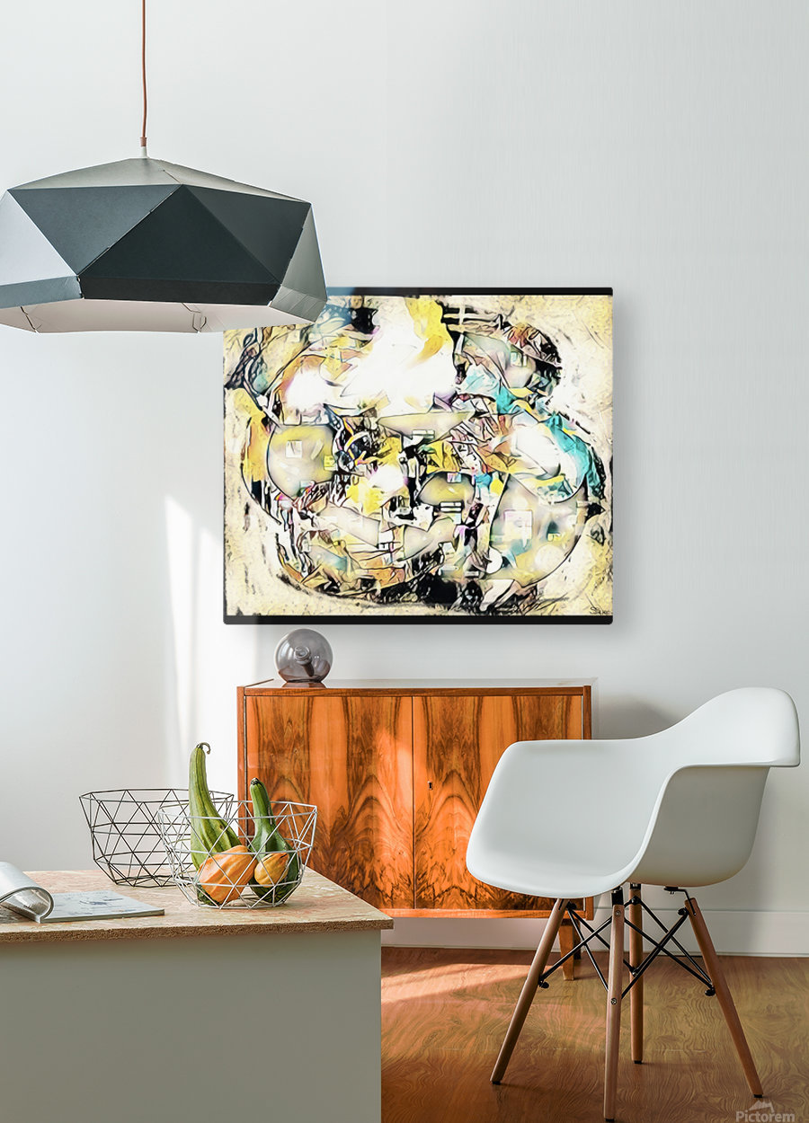Mosaic Labyrinth  HD Metal print with Floating Frame on Back