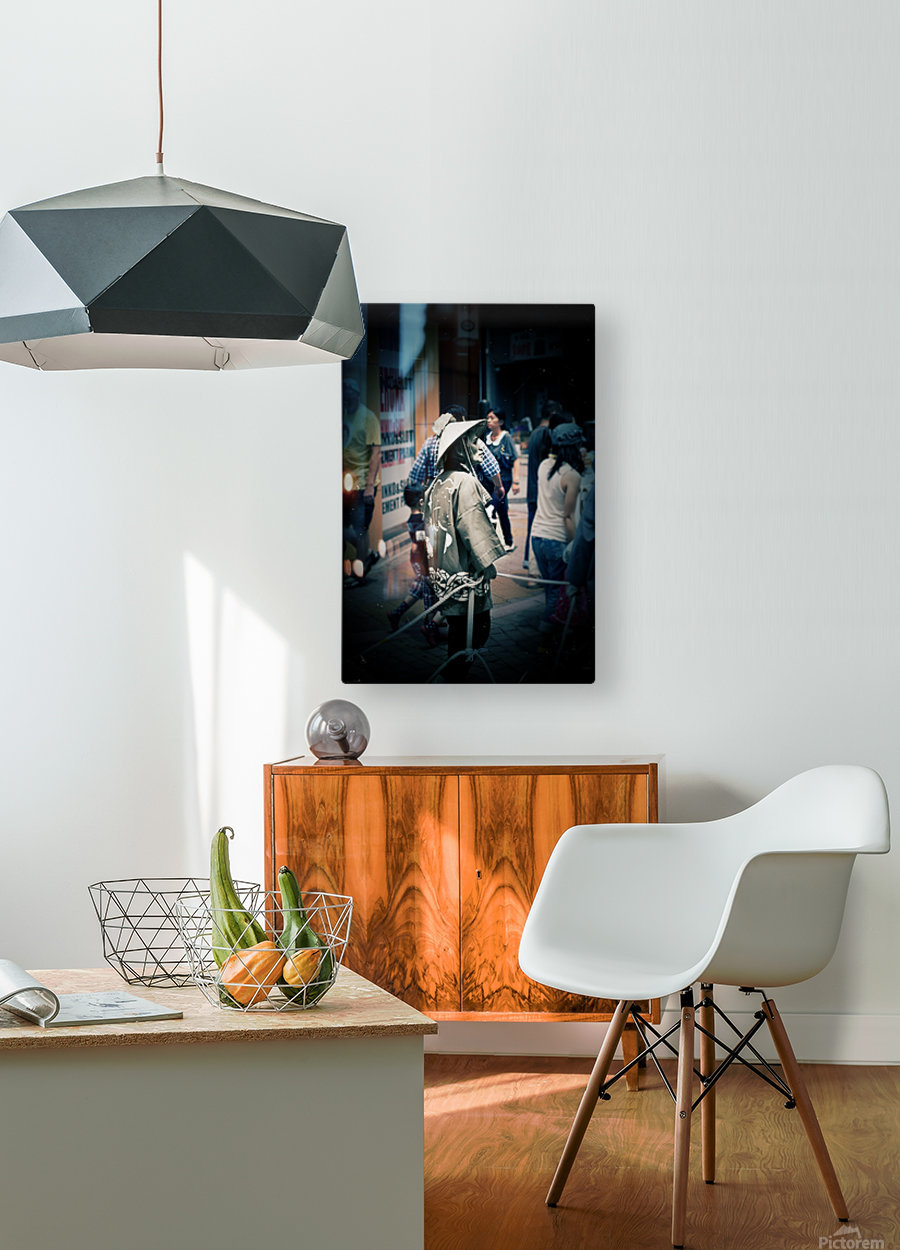 Past Meets Present  HD Metal print with Floating Frame on Back