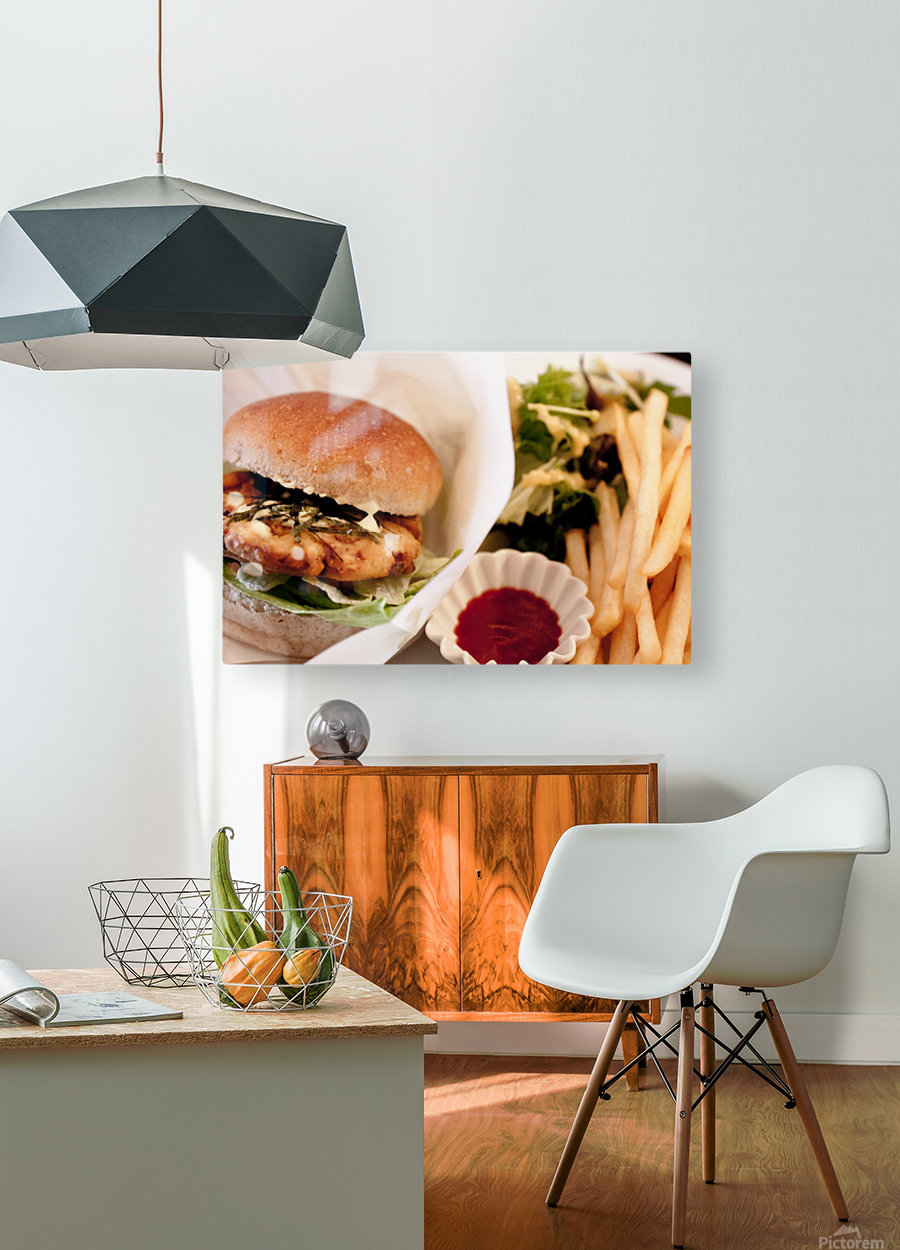 Its Vegan  HD Metal print with Floating Frame on Back