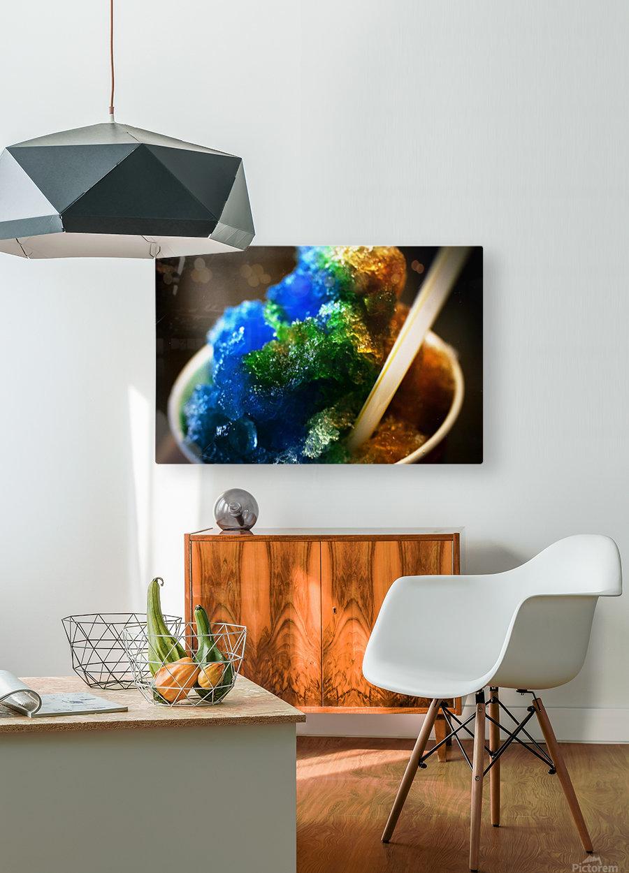Kakigori  HD Metal print with Floating Frame on Back