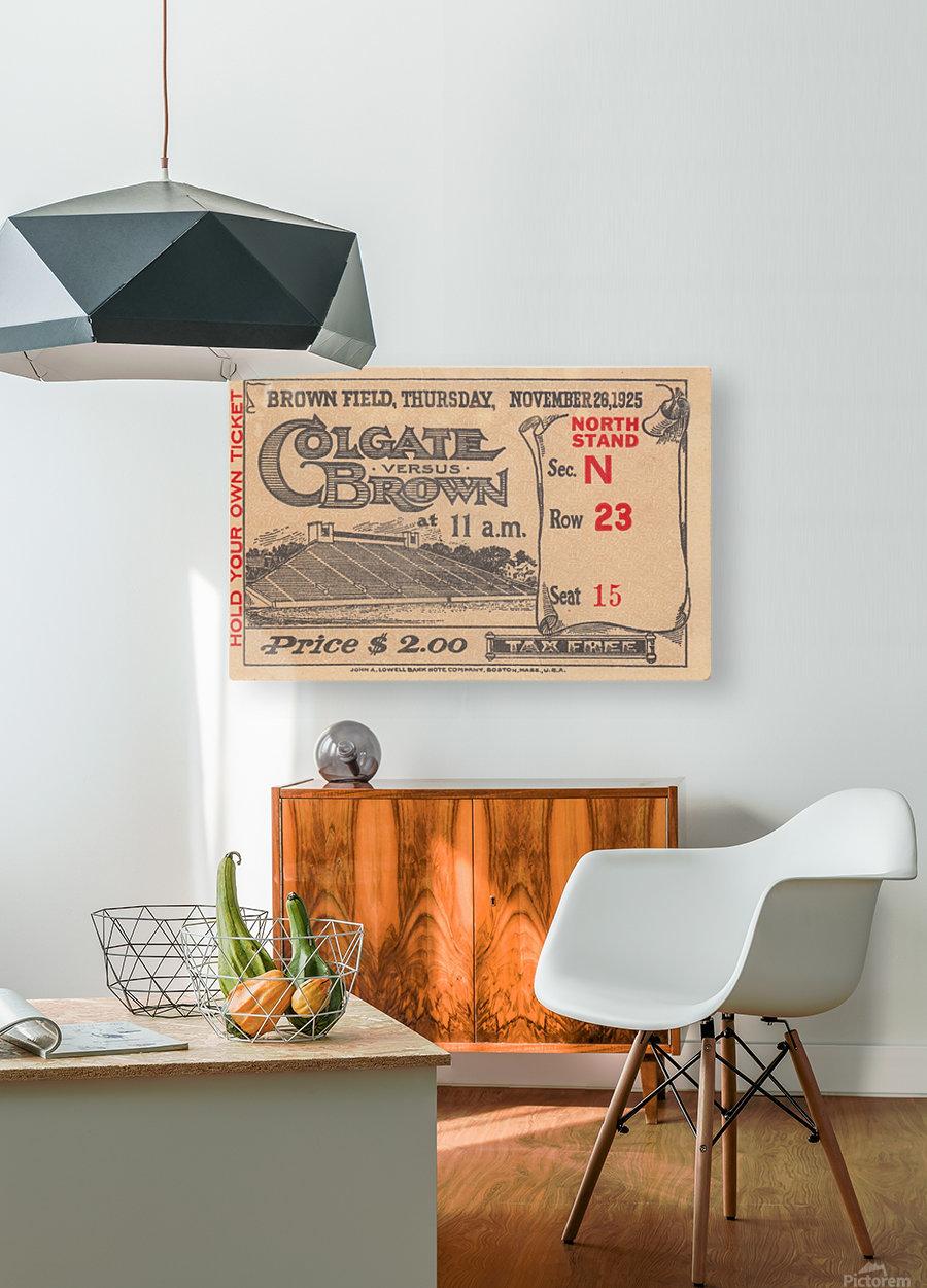 1925 Brown vs. Colgate  HD Metal print with Floating Frame on Back