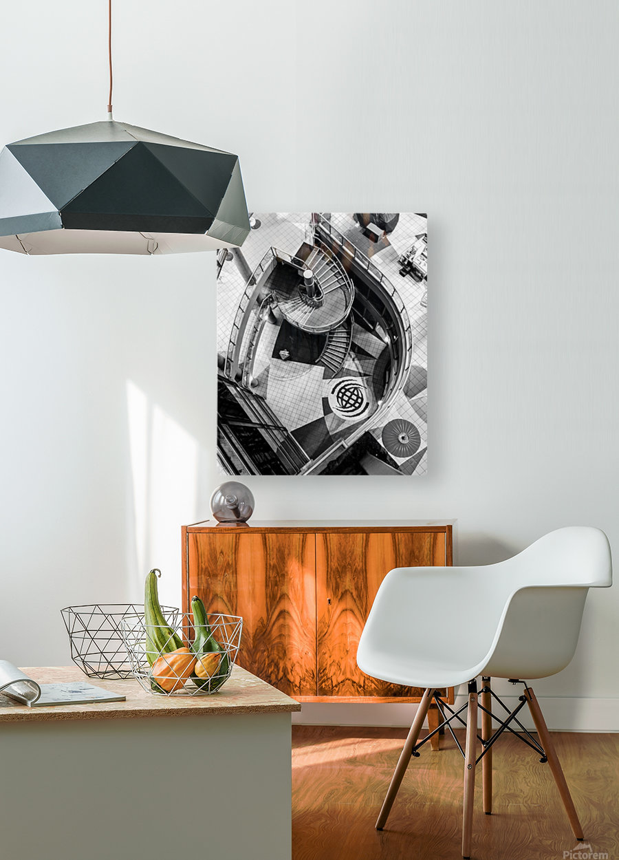 Fibonacci stairs  HD Metal print with Floating Frame on Back