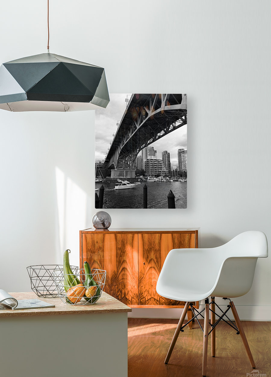 Bridge  HD Metal print with Floating Frame on Back