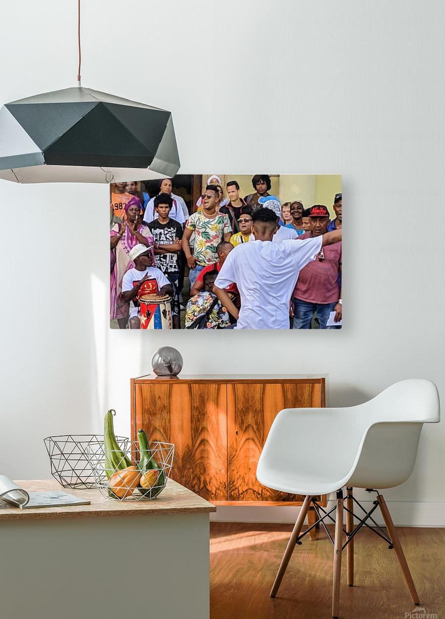 Rumbero Dancer  HD Metal print with Floating Frame on Back