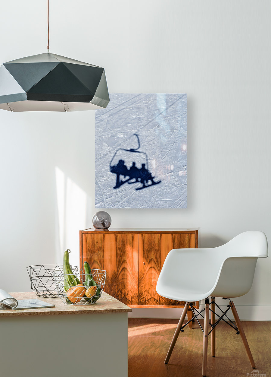 Lift chair  HD Metal print with Floating Frame on Back