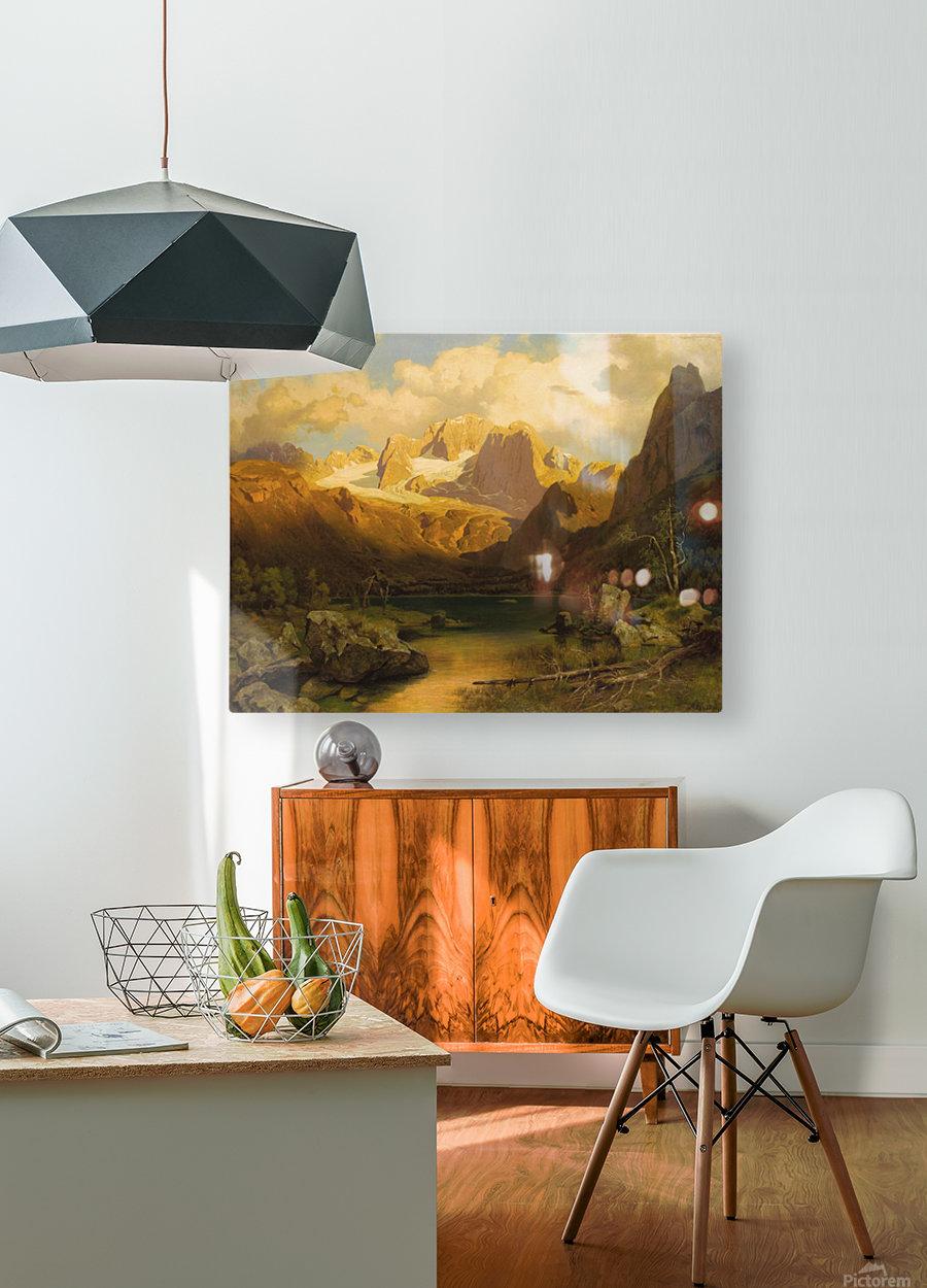Alpiner Berggipfel  HD Metal print with Floating Frame on Back