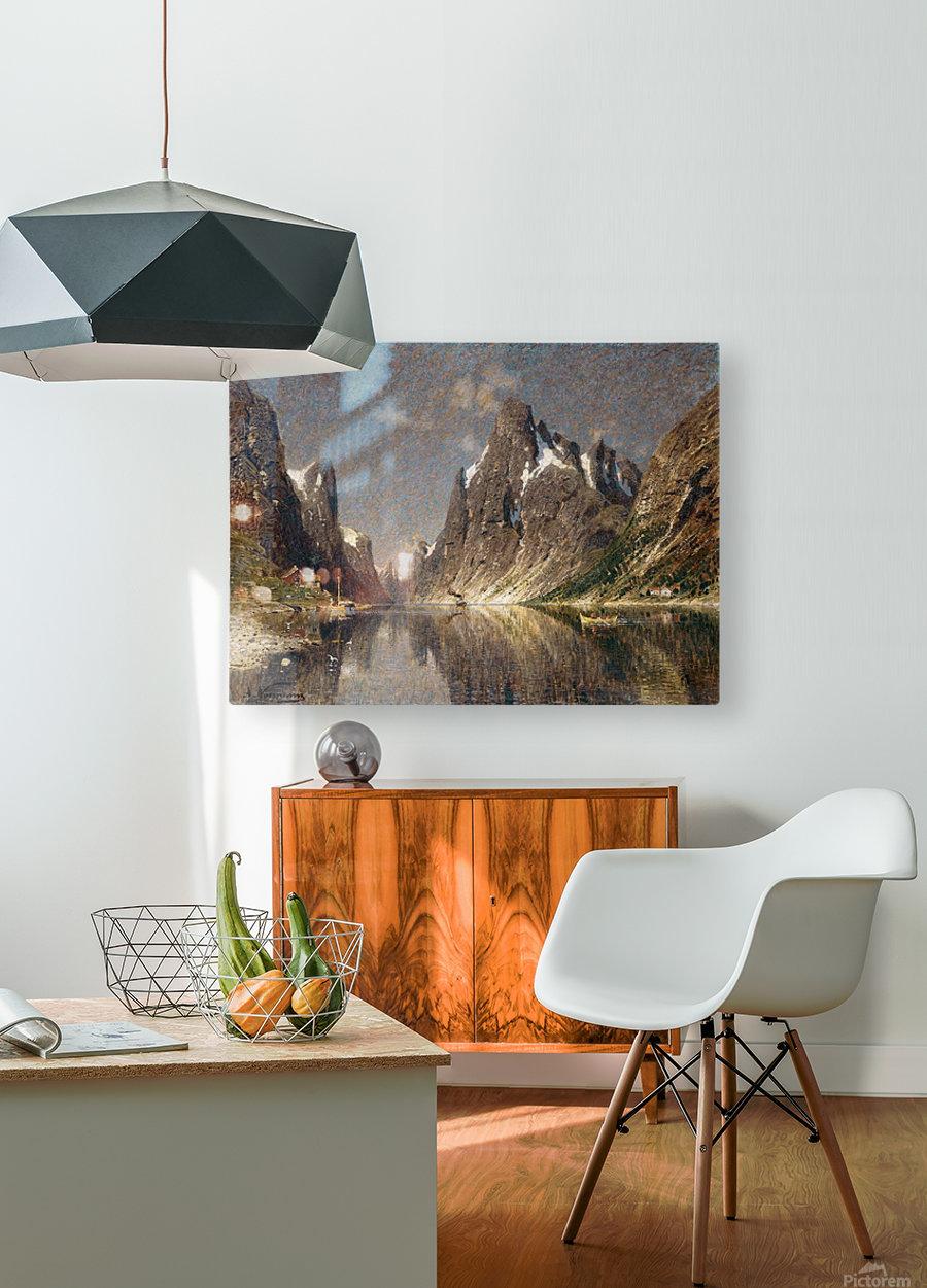 Norwegische Fjordlandschaft  HD Metal print with Floating Frame on Back