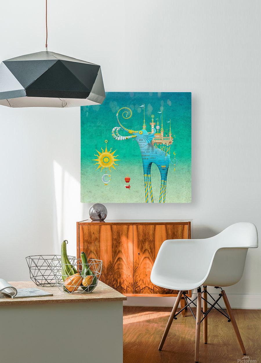 Castellini Elephantini Azure  HD Metal print with Floating Frame on Back