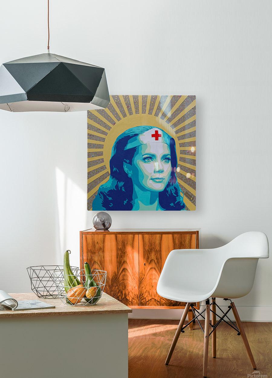Wonder Women  HD Metal print with Floating Frame on Back