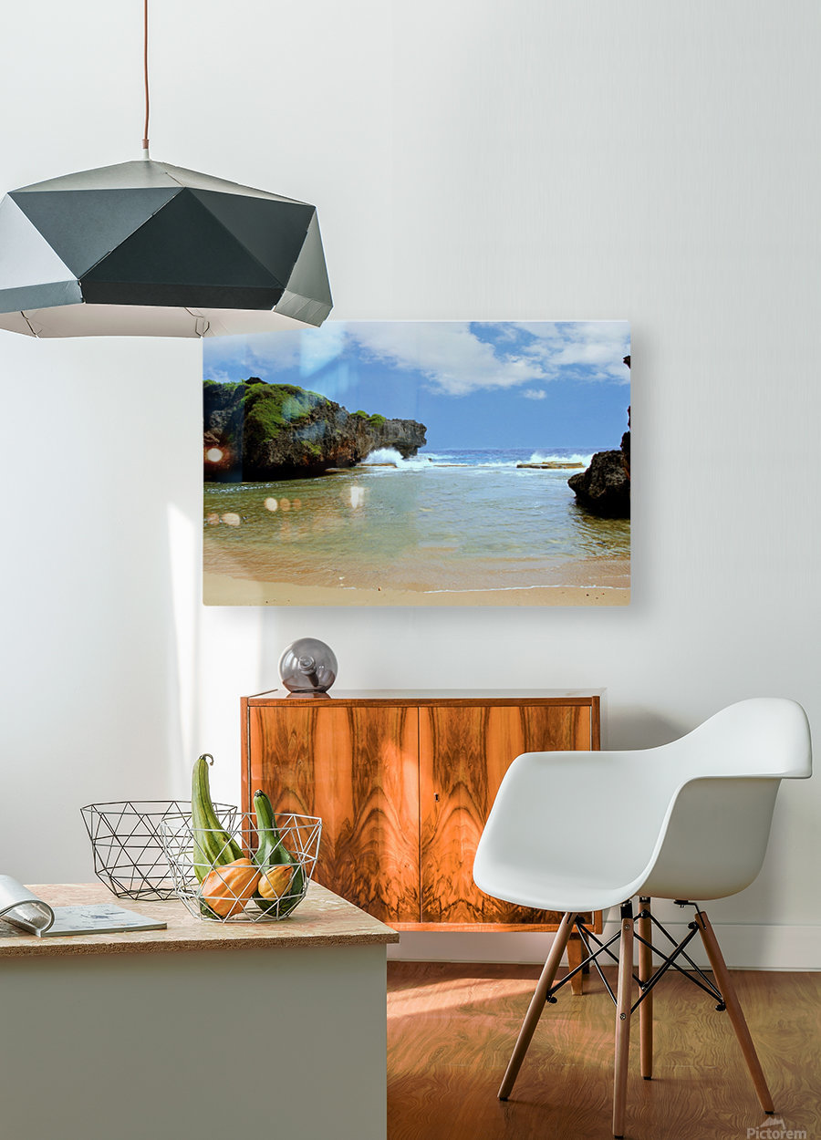 Hidden Beach  HD Metal print with Floating Frame on Back