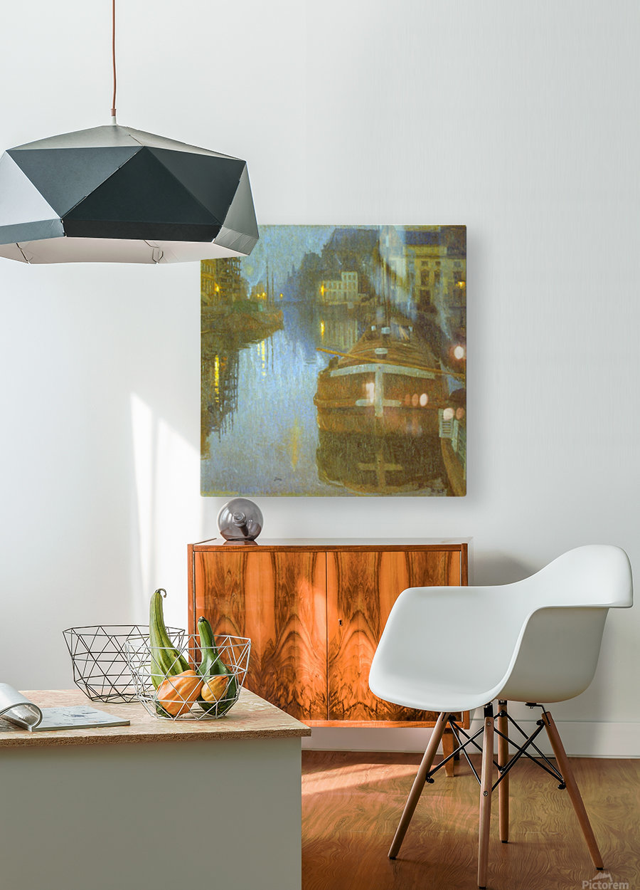 Ghent by Baertsoen  HD Metal print with Floating Frame on Back