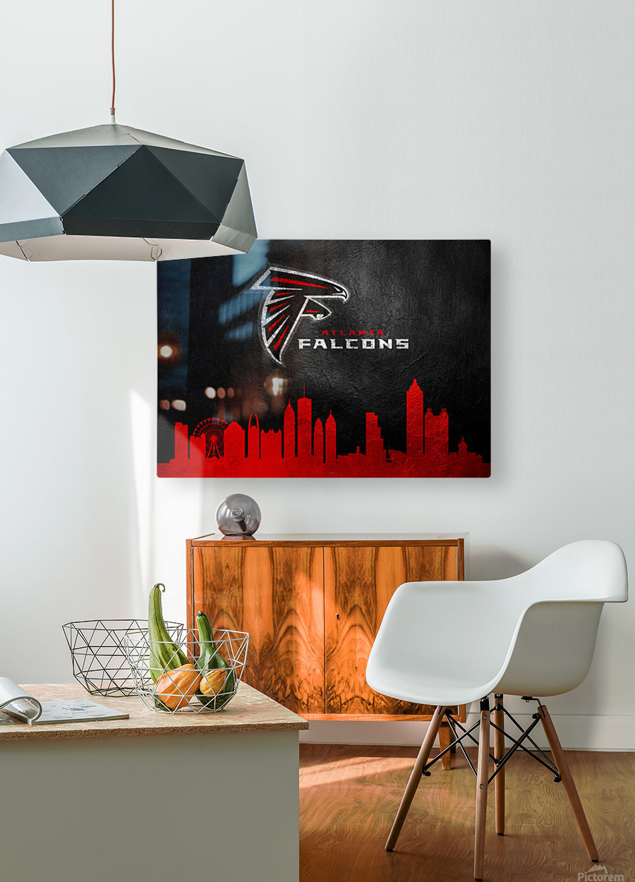 Atlanta Falcons  HD Metal print with Floating Frame on Back