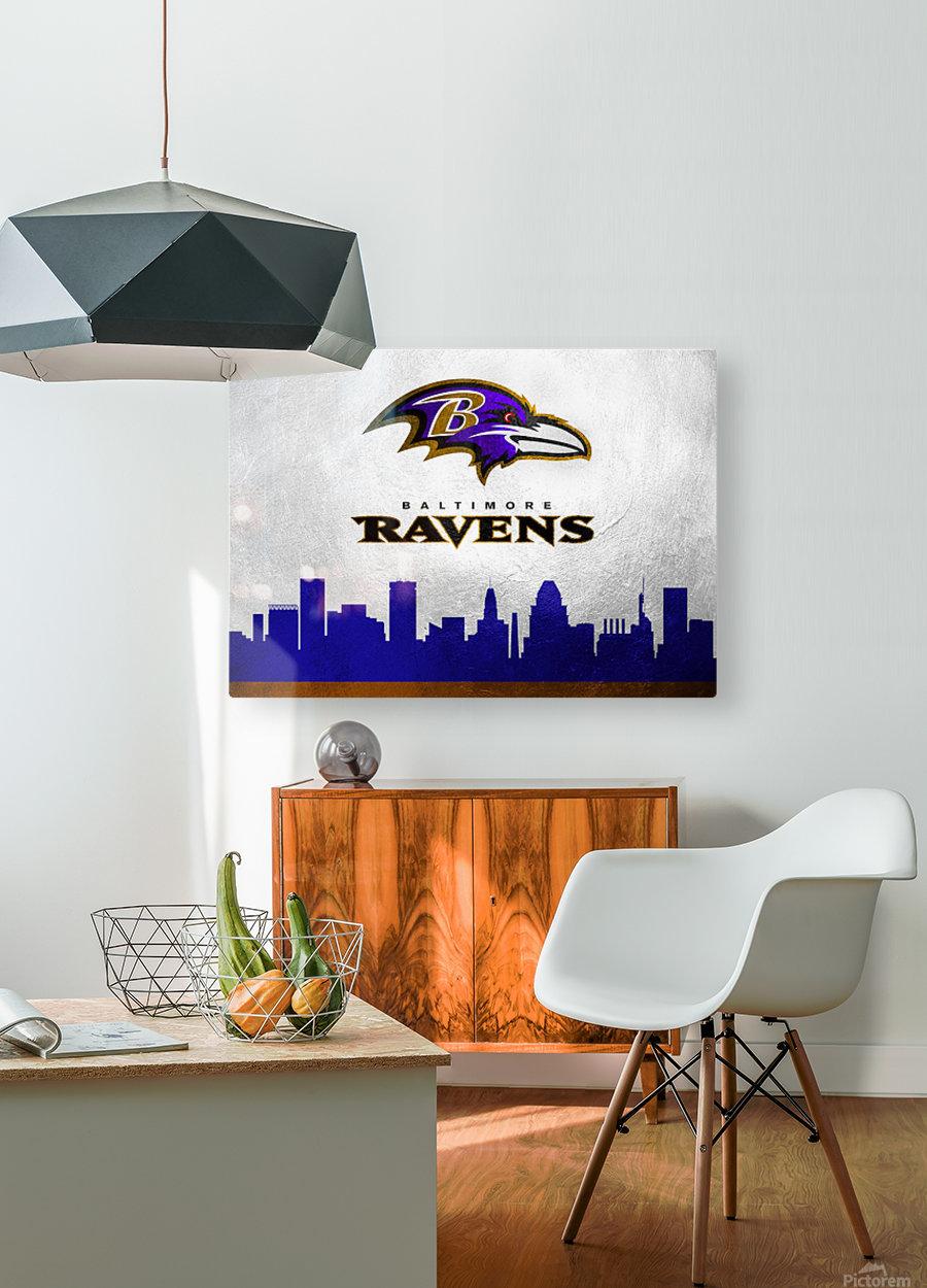 Baltimore Ravens  HD Metal print with Floating Frame on Back