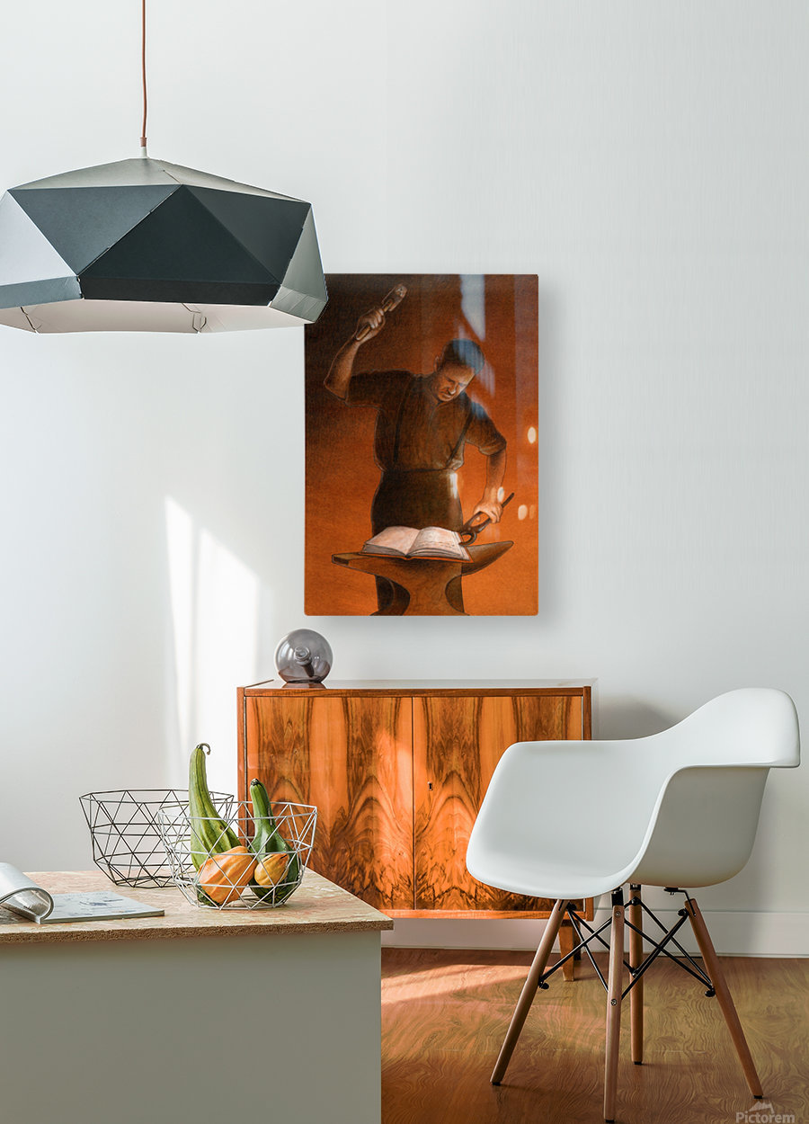 blacksmith  HD Metal print with Floating Frame on Back