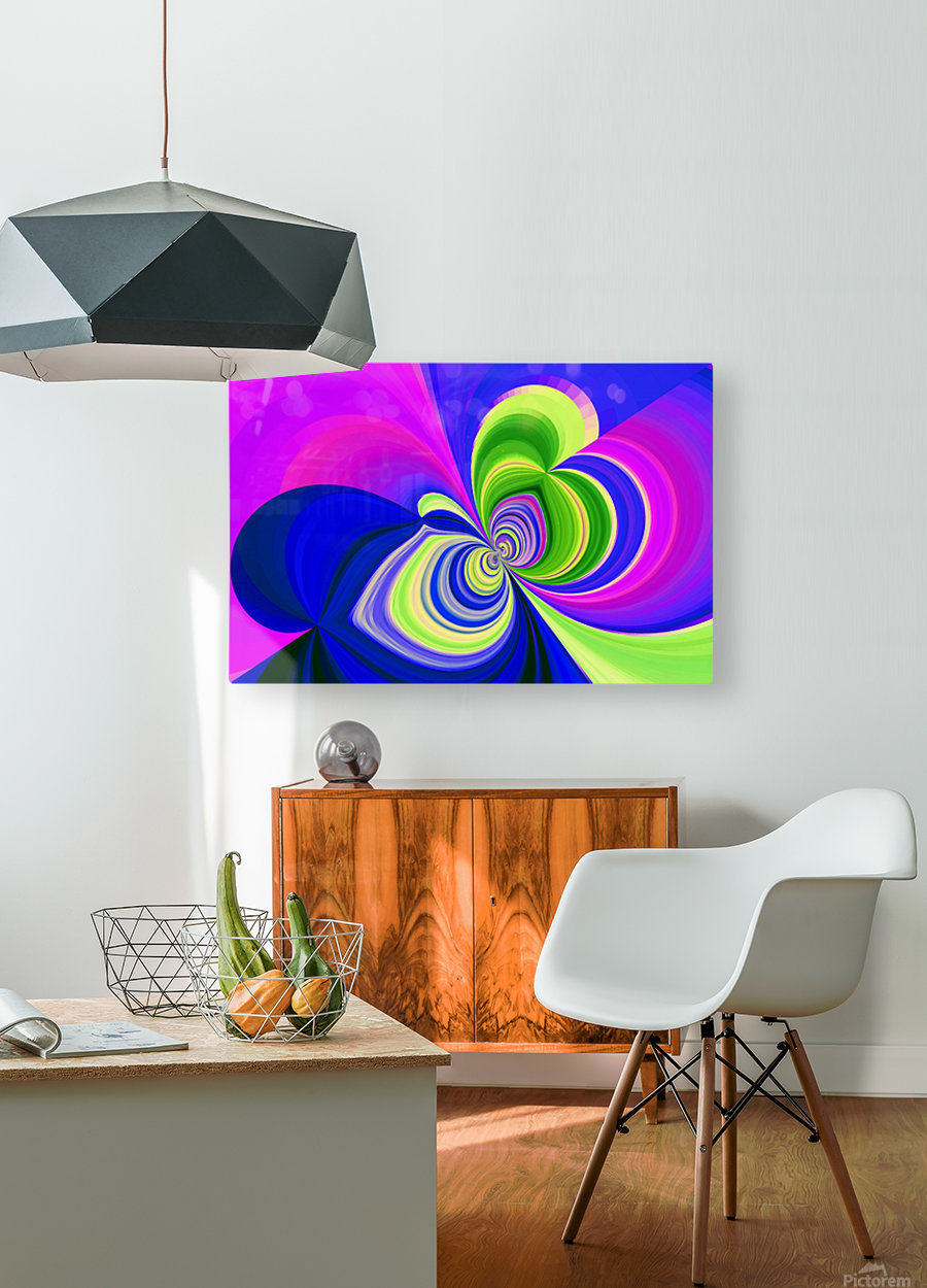 PSYCHEDELIC BUTTERFLY 2  HD Metal print with Floating Frame on Back