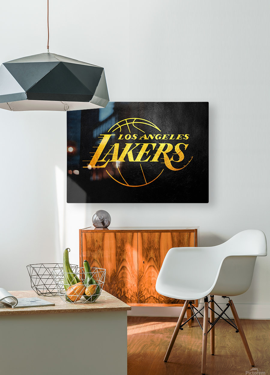 Lakers 2  HD Metal print with Floating Frame on Back