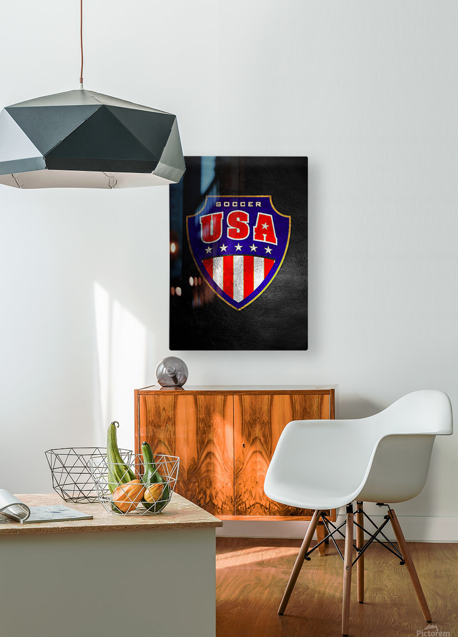 USA  HD Metal print with Floating Frame on Back