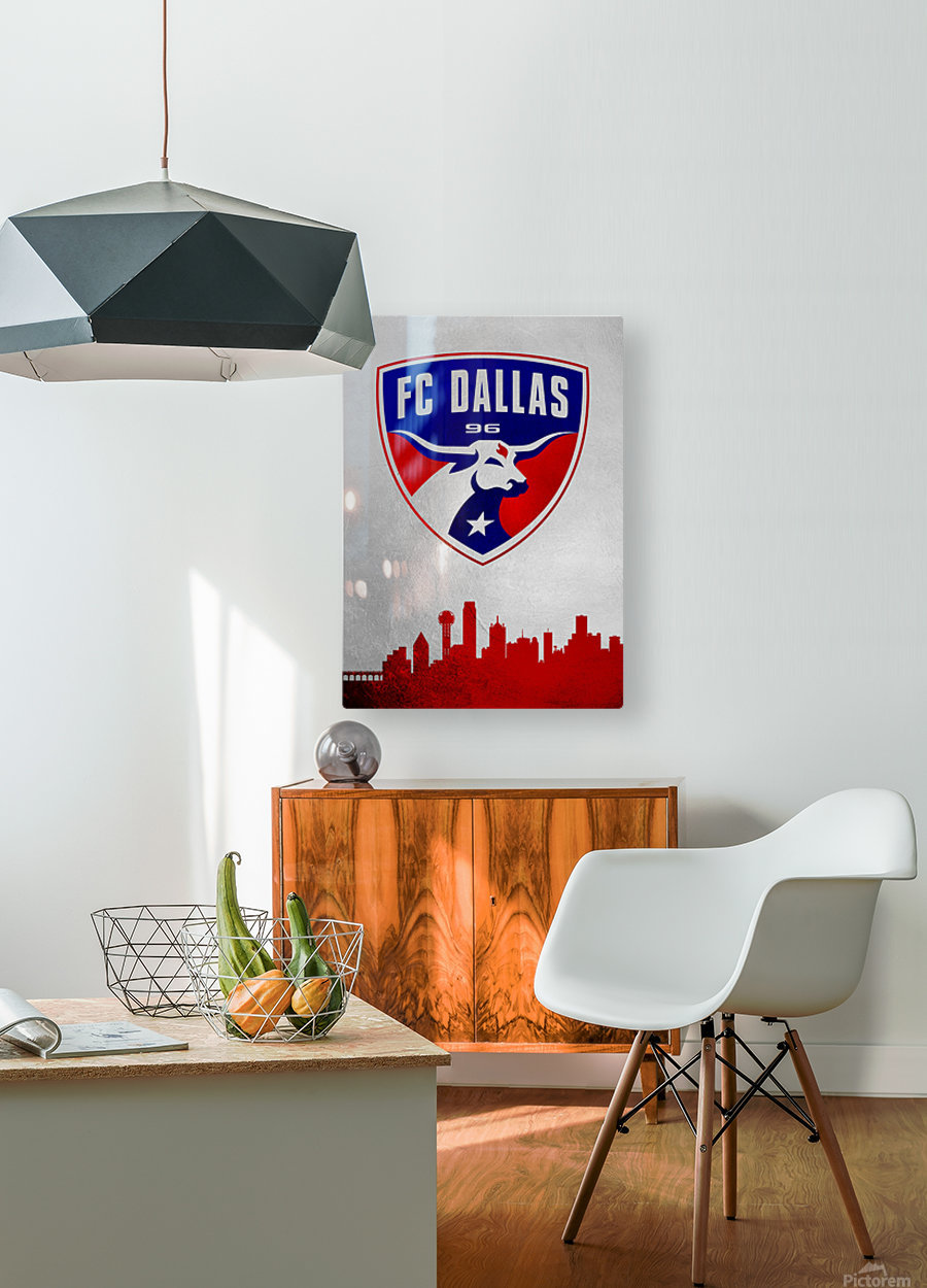 FC Dallas  HD Metal print with Floating Frame on Back