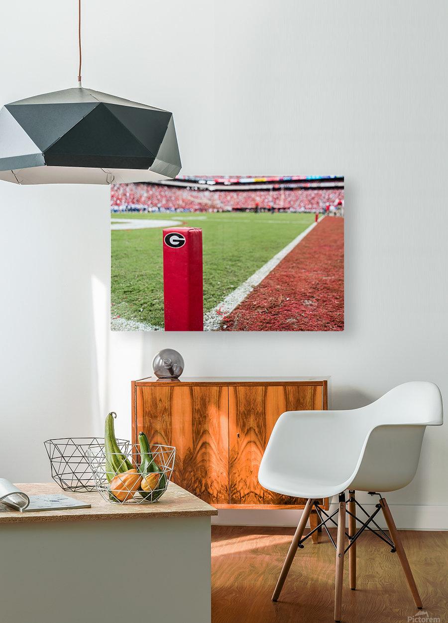 University of Georgia Football   Athens GA 3055  HD Metal print with Floating Frame on Back