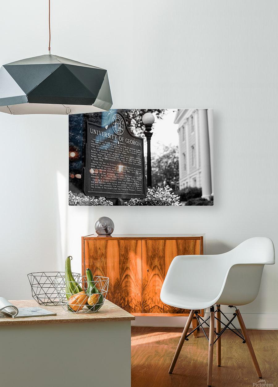 University of Georgia   Athens GA 07308  HD Metal print with Floating Frame on Back
