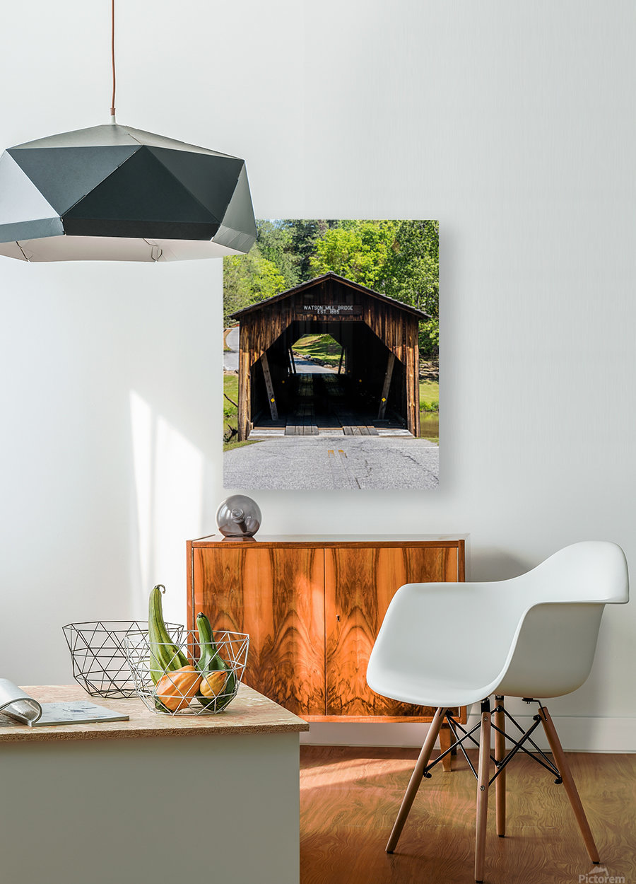 Watson Mill Bridge State Park   Comer GA 06571  HD Metal print with Floating Frame on Back