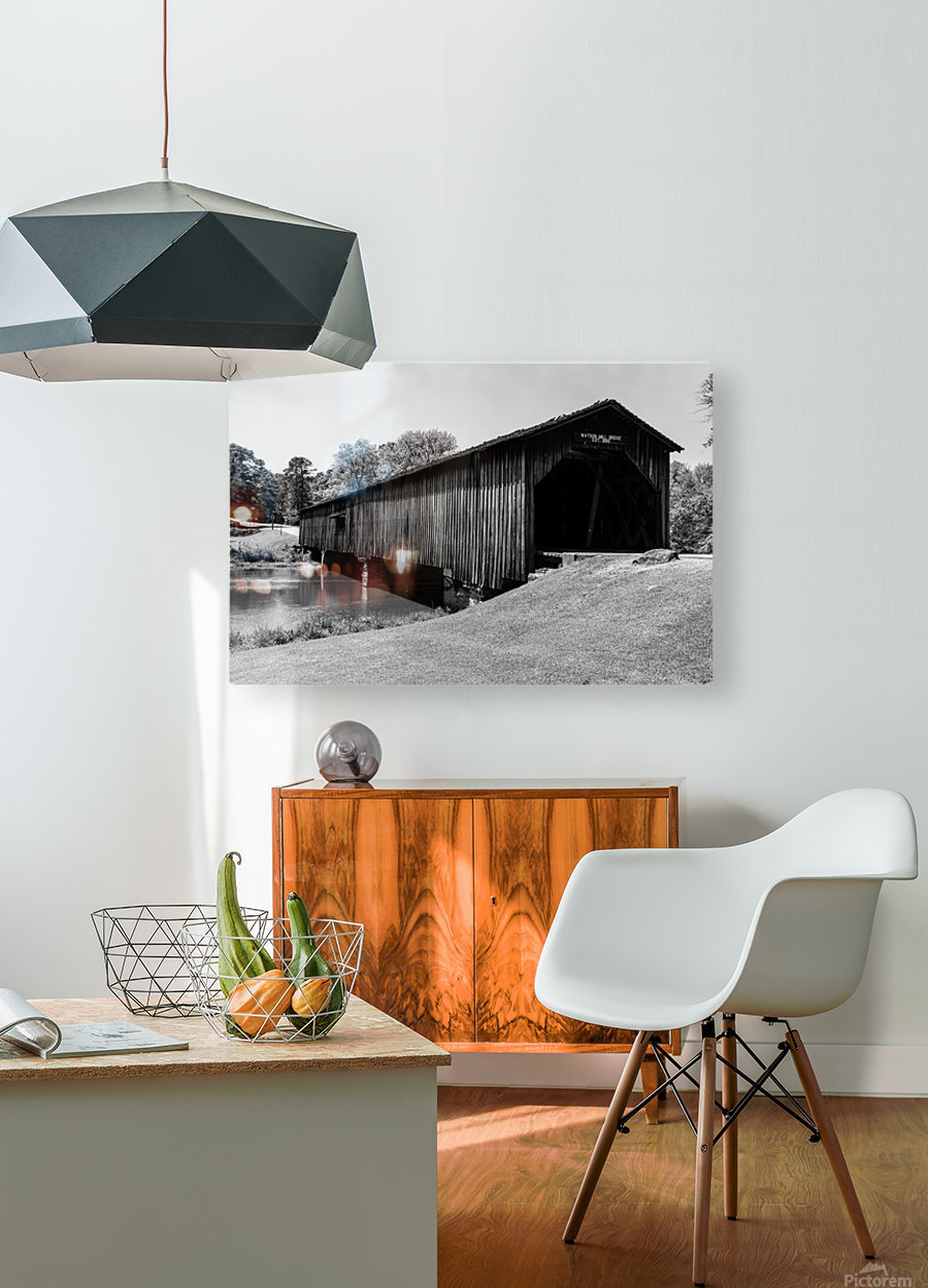 Watson Mill Bridge State Park   Comer GA 06587  HD Metal print with Floating Frame on Back