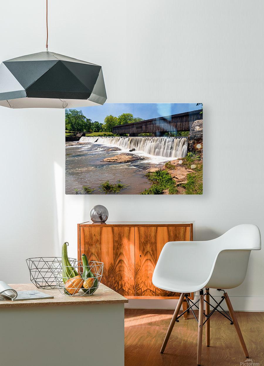 Watson Mill Bridge State Park   Comer GA 06914  HD Metal print with Floating Frame on Back