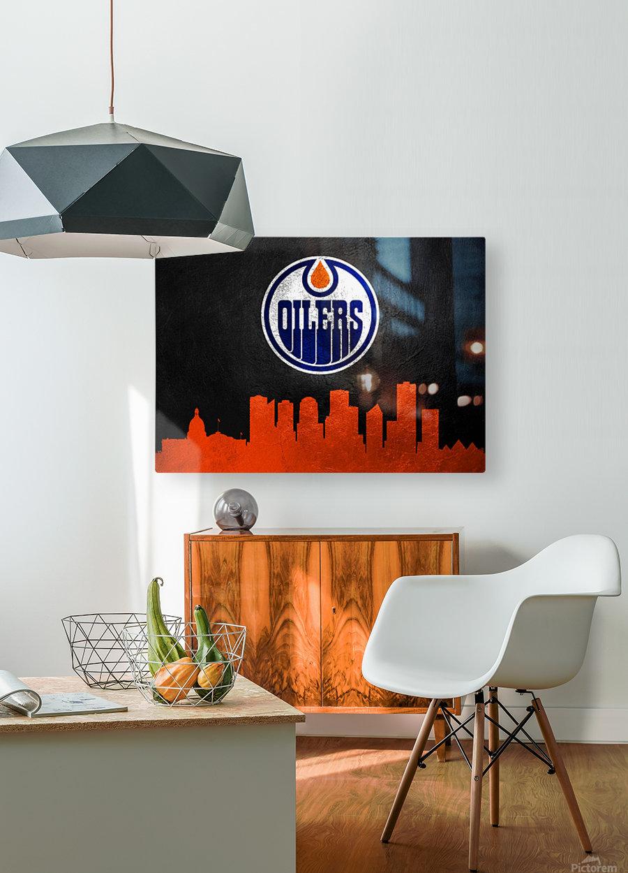 Edmonton Oilers  HD Metal print with Floating Frame on Back