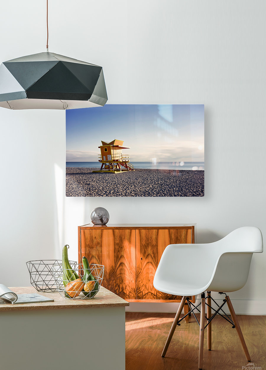 Miami Beach 058  HD Metal print with Floating Frame on Back