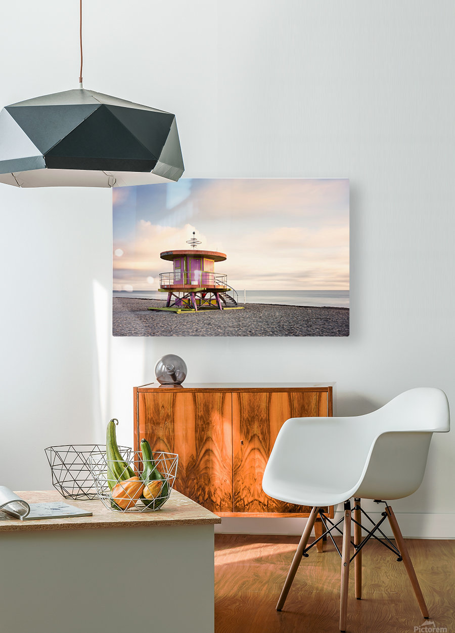 Miami Beach 028  HD Metal print with Floating Frame on Back