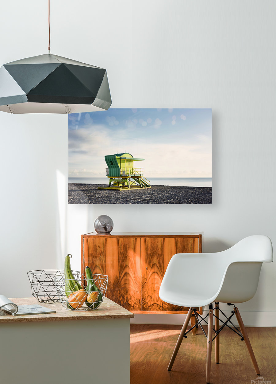 Miami Beach 048  HD Metal print with Floating Frame on Back