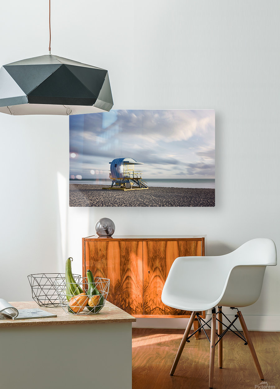 Miami Beach 042  HD Metal print with Floating Frame on Back