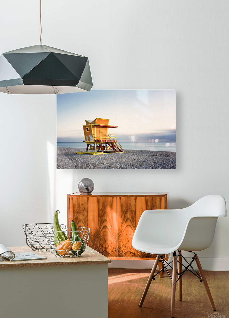 Miami Beach 0280  HD Metal print with Floating Frame on Back