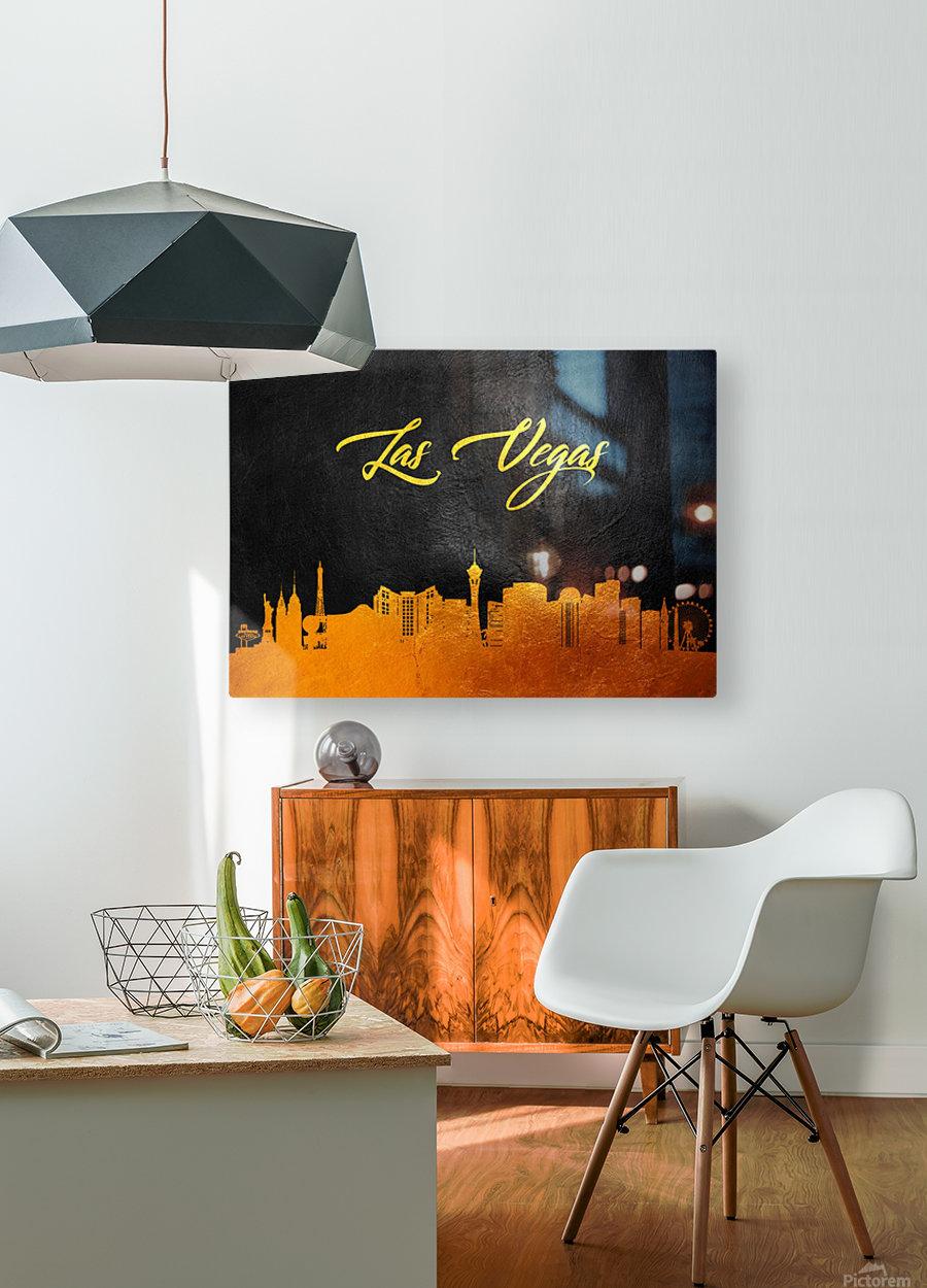 Las Vegas Nevada Skyline Wall Art  HD Metal print with Floating Frame on Back