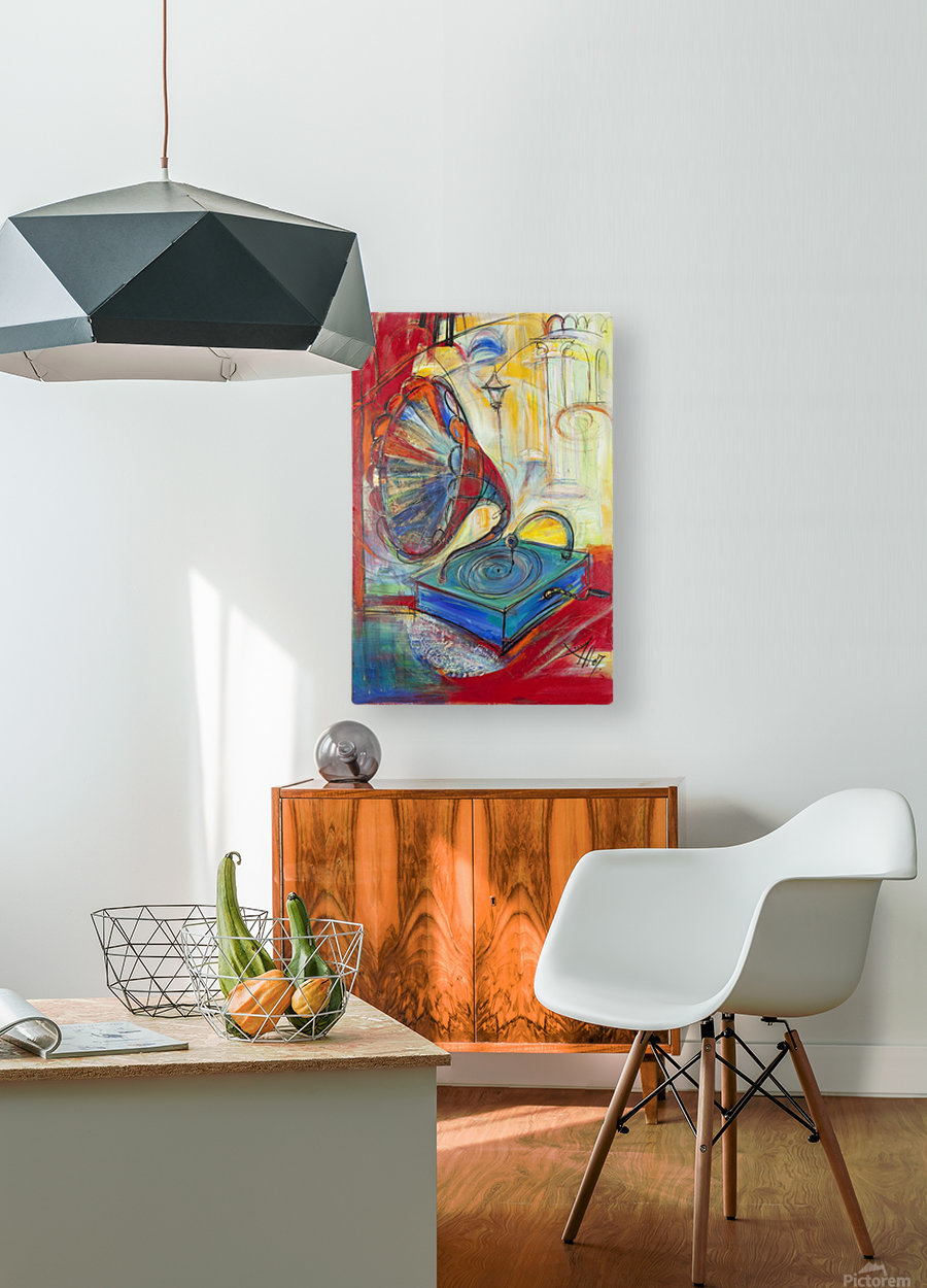 From the series of: Music  HD Metal print with Floating Frame on Back