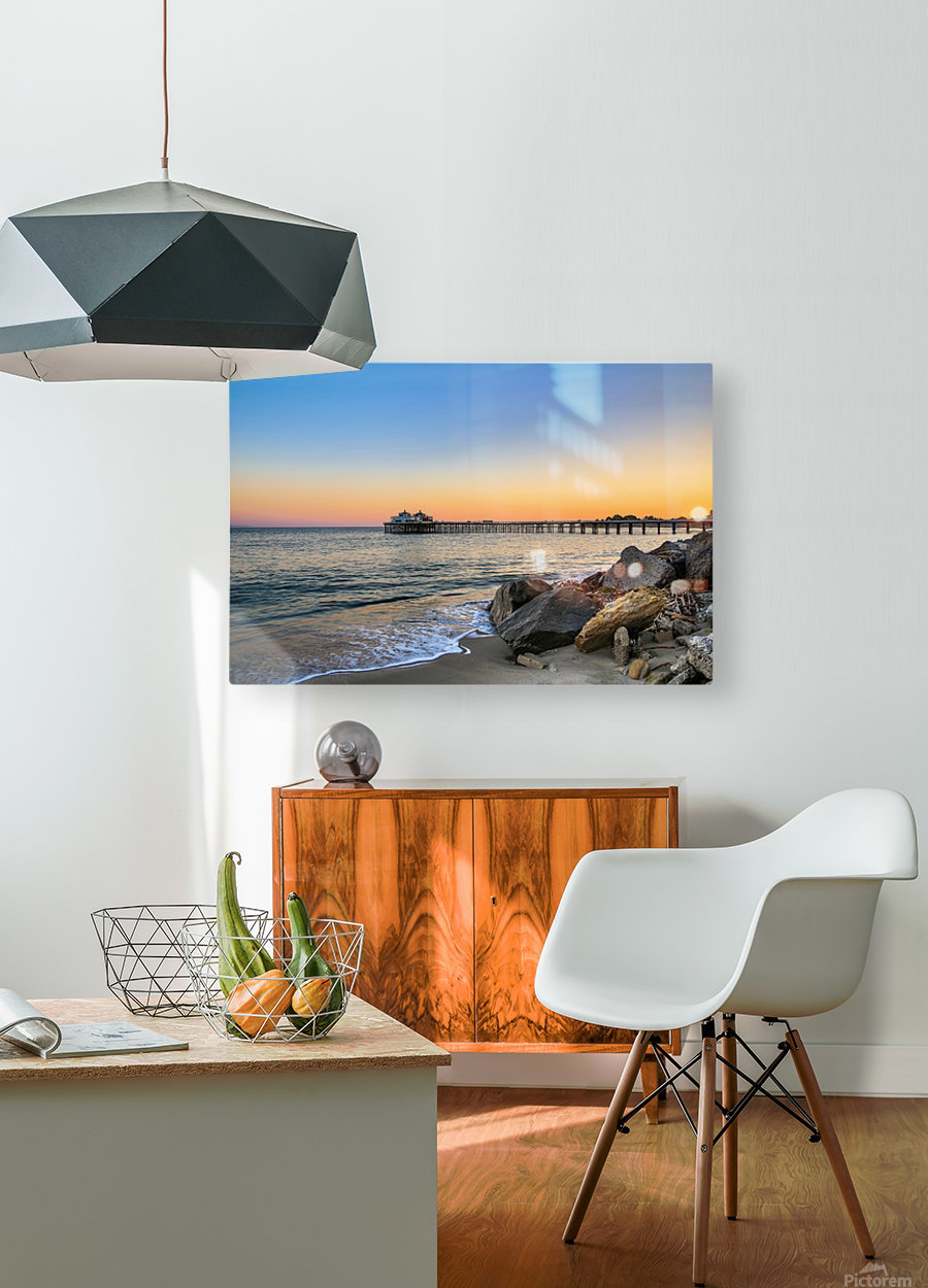 Stranded  HD Metal print with Floating Frame on Back