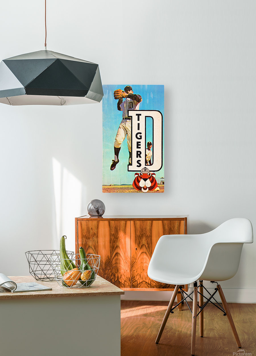 retro remix detroit tigers poster  HD Metal print with Floating Frame on Back