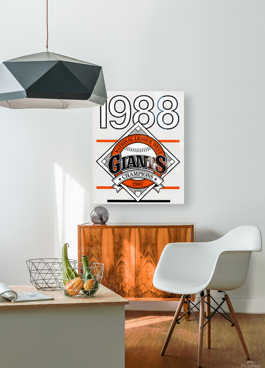 San Francisco Giants 1988  HD Metal print with Floating Frame on Back