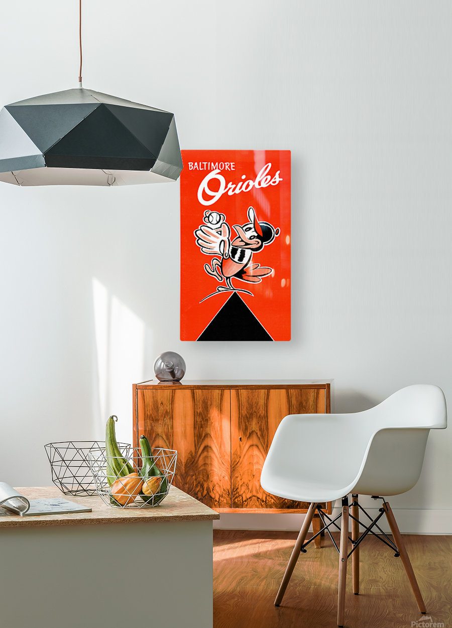 Baltimore Orioles Row One  HD Metal print with Floating Frame on Back