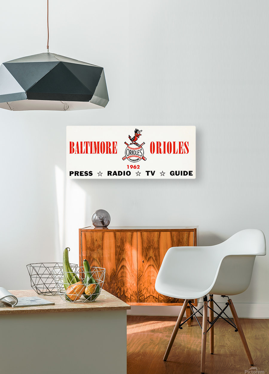 baltimore orioles press guide row one  HD Metal print with Floating Frame on Back