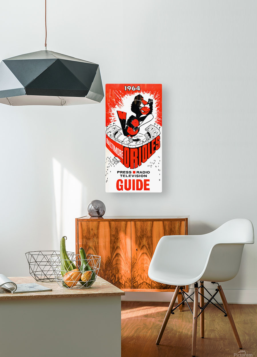 1964 baltimore orioles  HD Metal print with Floating Frame on Back