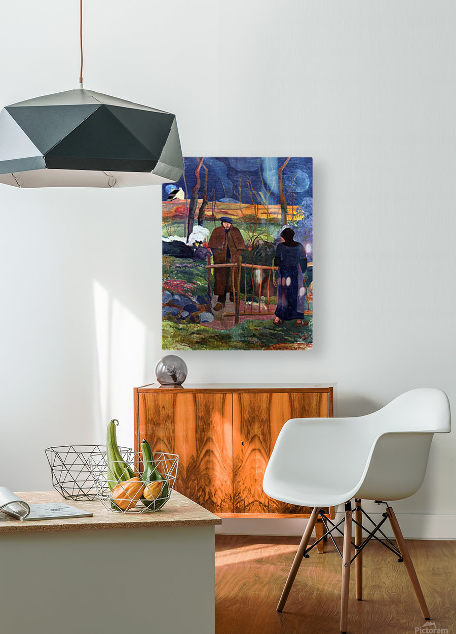 Good Day Mr. gauguin by Gauguin  HD Metal print with Floating Frame on Back