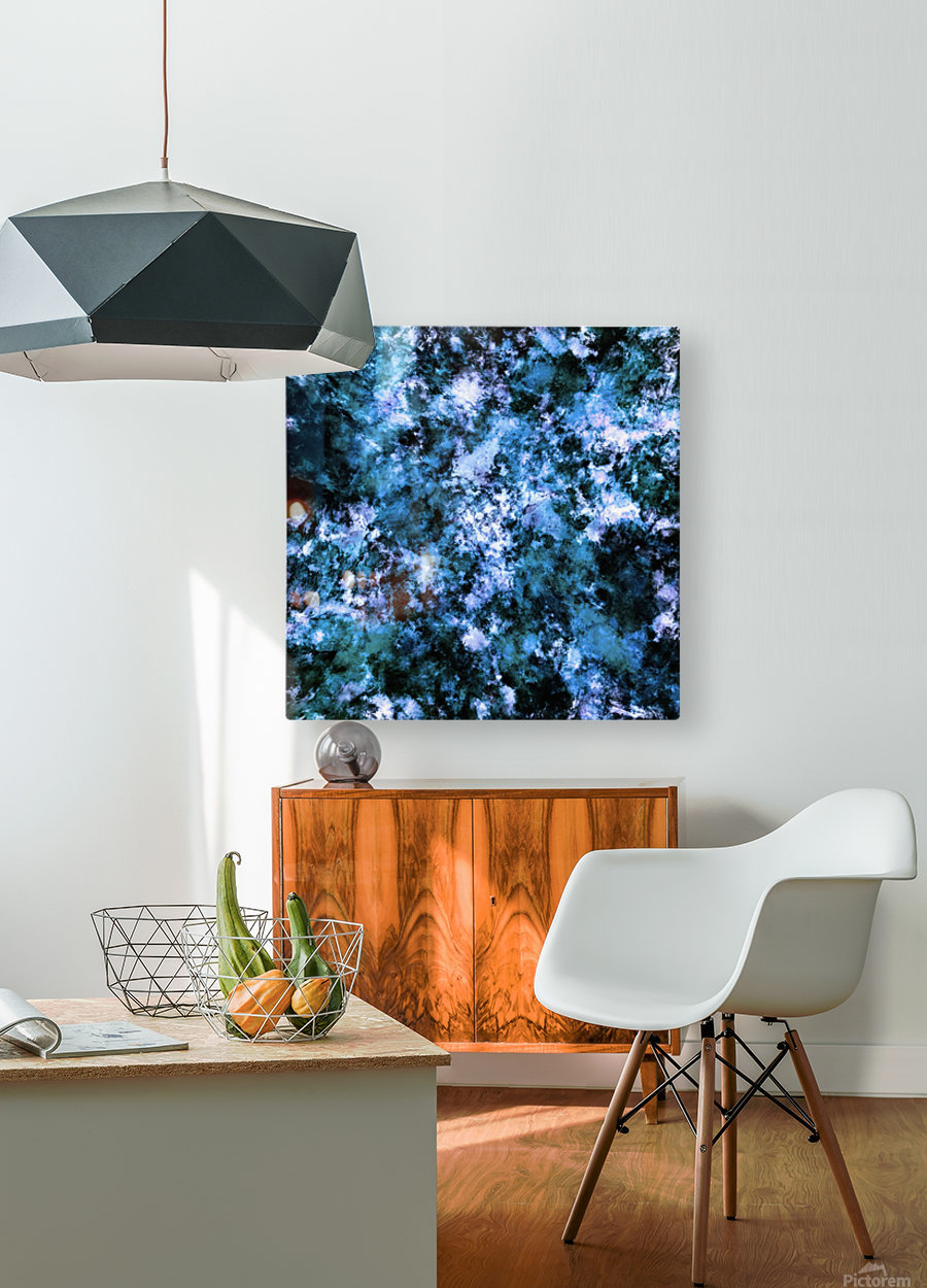 Cool flash point  HD Metal print with Floating Frame on Back