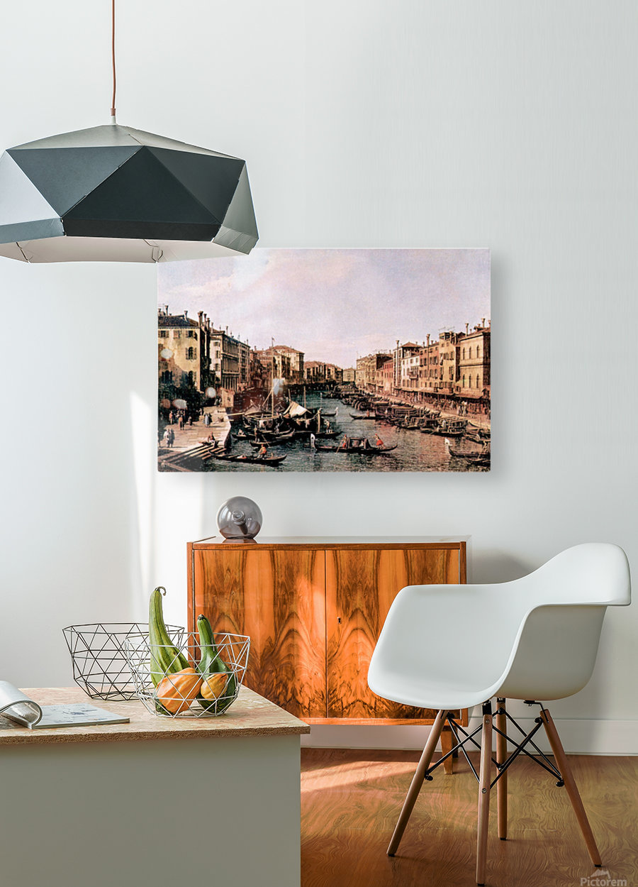 Grand Canal -2- by Canaletto  HD Metal print with Floating Frame on Back