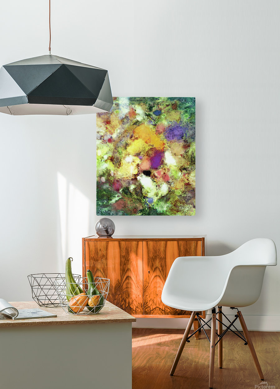 Forgotten petals  HD Metal print with Floating Frame on Back