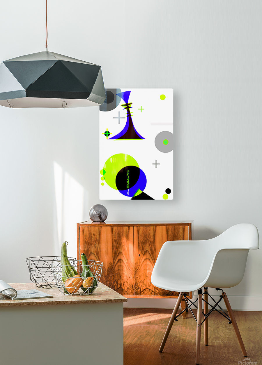 MATH 3  HD Metal print with Floating Frame on Back