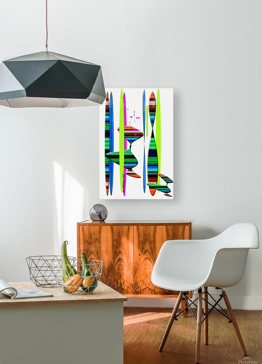 LINEAR 1  HD Metal print with Floating Frame on Back