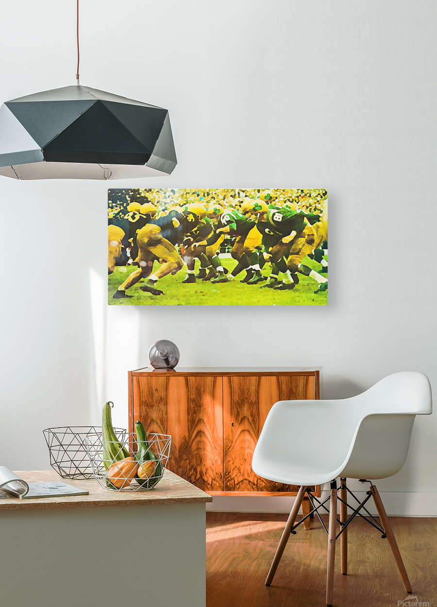 best notre dame football art  HD Metal print with Floating Frame on Back