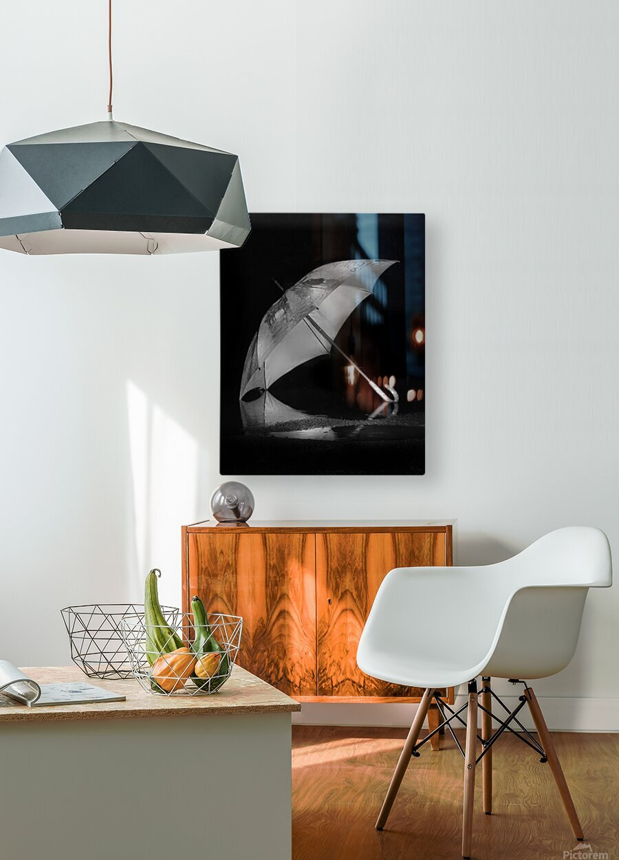Danser sous la pluie  HD Metal print with Floating Frame on Back